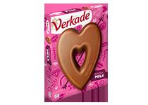 Verkade melk chocoladehart