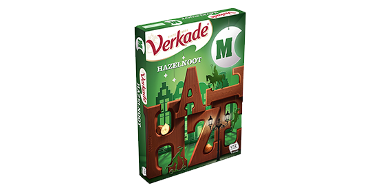 Verkade Chocoladeletter Hazelnoot 135g