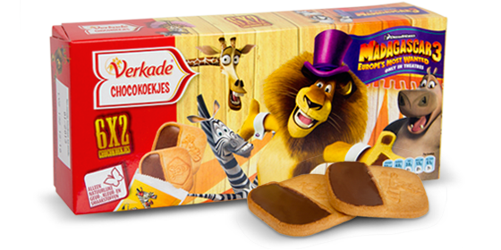 Verkade Chocokoekjes Madagascar 3