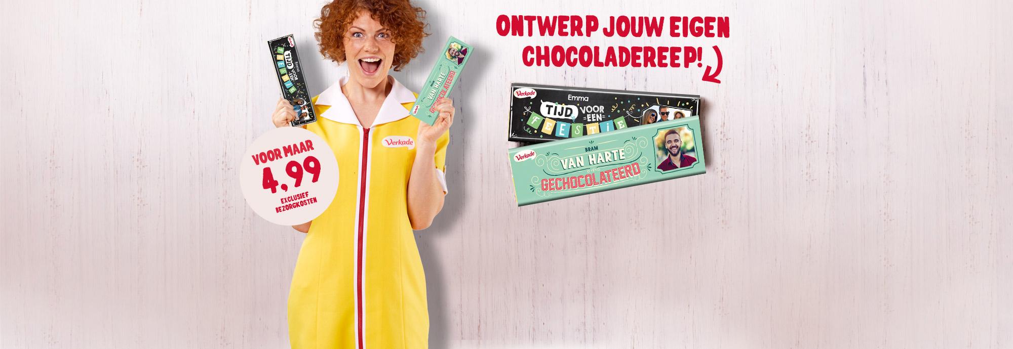 Ontwerp jouw eigen chocoladereep!