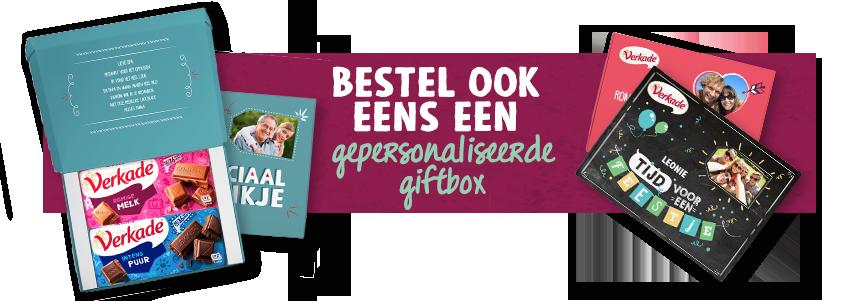 Bestel ook eens een gepersonaliseerde giftbox