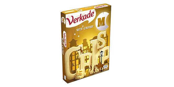 Verkade Chocoladeletter Wit Crisp 135g